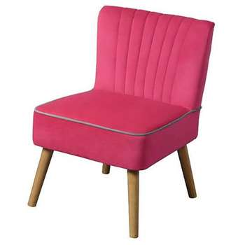 LOLA OYSTER PINK Retro Chair (79 x 60cm)