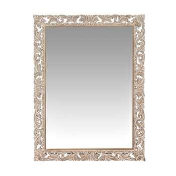 LOMBOK - Carved Mango Wood Mirror (H120 x W90cm)