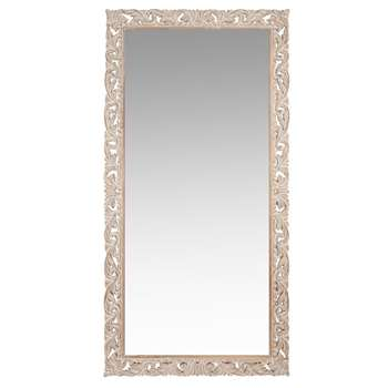 Lombok - Carved Mango Wood Mirror (H180 x W90 x D3.5cm)