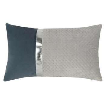 LOMEL - Grey, Blue and Silver Cushion Cover (H30 x W50cm)