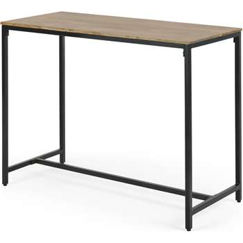 Lomond 4 Seat Bar Table, Mango wood and Black (H90 x W120 x D50cm)