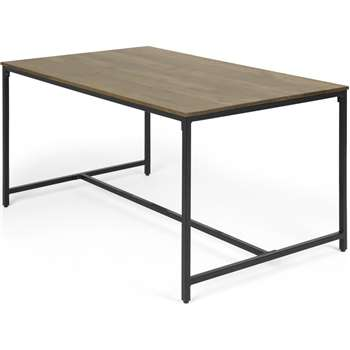 Lomond 6 Seat Compact Dining Table, Mango Wood (H76 x W140 x D90cm)