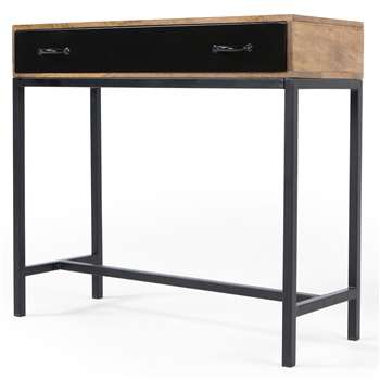 Lomond Console Table, Mango Wood and Black (82 x 90cm)