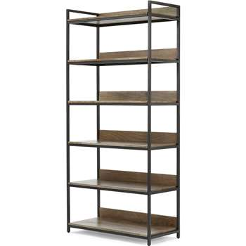 Lomond Modular Wide Shelves, Mango Wood and Black (H188 x W86 x D40cm)