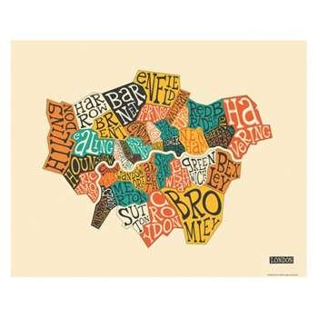 London Boroughs 40 x 50cm print by Jazzberry Blue