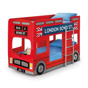London Bus Kids Bunk Bed By Julian Bowen (136 x 200cm)