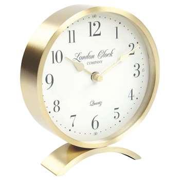 London Clock Company Arch Mantle Clock, Champagne (H15 x W13 x D3.5cm)