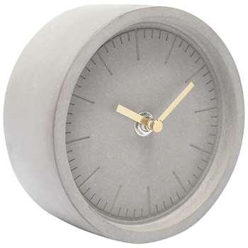 London Clock Company Cement Finish Mantel Clock, Grey (H13 x W13 x D6.5cm)