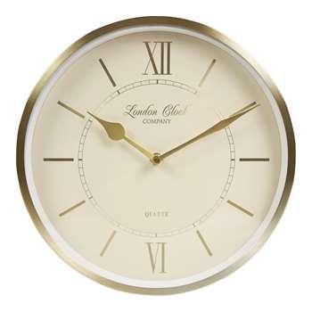 London Clock Company Heritage Wall Clock, Champagne Gold (H25 x W25 x D4cm)