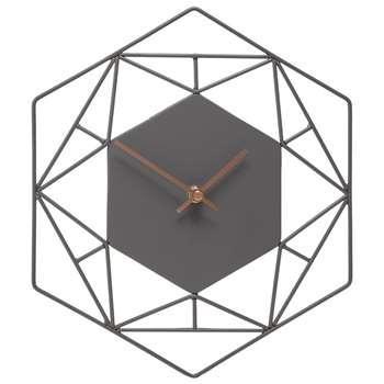 London Clock - Grey Wall Clock (H30 x W26cm)
