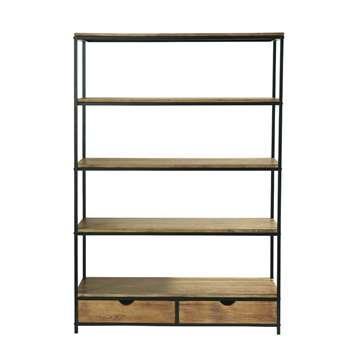 LONG ISLAND Metal Industrial Shelf Unit W 130cm Long