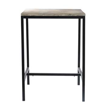 LONG ISLAND Solid wood and metal industrial tall dining table (Width 75cm Long)