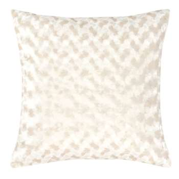 LOPPEM - Ecru and Gold Cushion Cover with Print (H40 x W40cm)