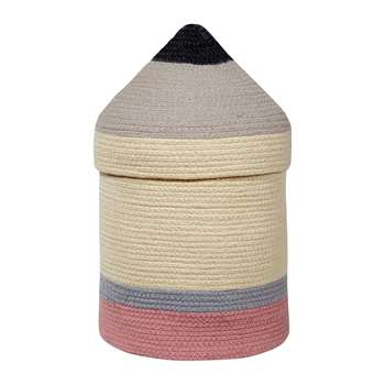 Lorena Canals - Cotton Pencil Basket - Large (H45.5 x W25 x D25cm)