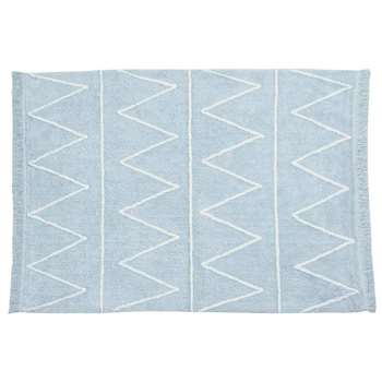 Lorena Canals Hippy Washable Kids Rug - Hippy Blue (H120 x W160cm)