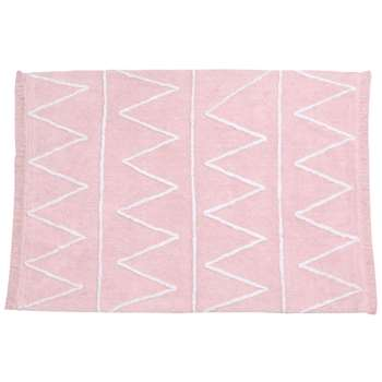 Lorena Canals Hippy Washable Kids Rug - Hippy Pink (H120 x W160cm)