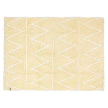 Lorena Canals Hippy Washable Kids Rug - Hippy Yellow (H120 x W160cm)
