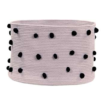 Lorena Canals - Pebbles Cotton Basket - Wood Rose (H30.5 x W49 x D49cm)