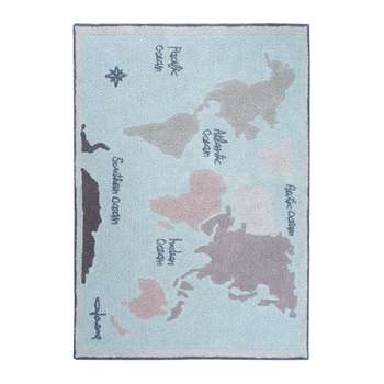 Lorena Canals - Vintage Map Washable Rug - 140x200cm (H140 x W200cm)