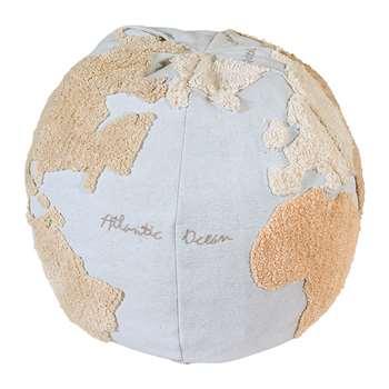 Lorena Canals - World Map Pouf (H40 x W50 x D50cm)