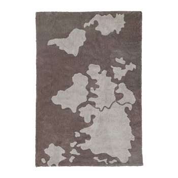 Lorena Canals - World Map Washable Rug - 140x200cm (H200 x W140cm)