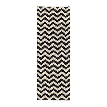 Lorena Canals - Zig-Zag Washable Rug - Black & White (H230 x W80cm)