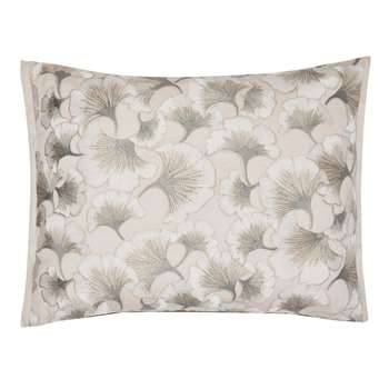 Lorena Embroidered Natural Cushion (H40 x W55cm)