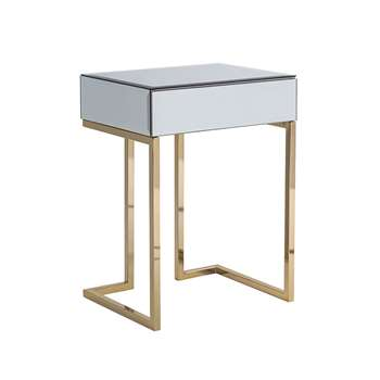 Lorenzo Toughened Mirror Side Table (H60 x W45 x D35cm)