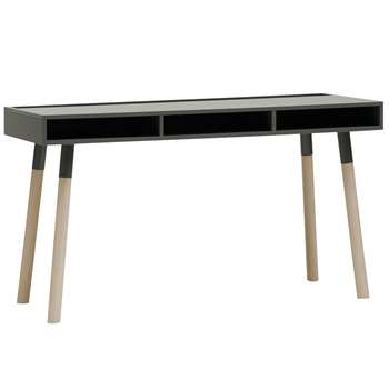 Lori Desk With Storage in Graphite - Black (78 x 135cm)