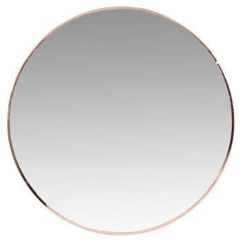 LORNA - Round Gold Metal Mirror (H40 x W40 x D1cm)