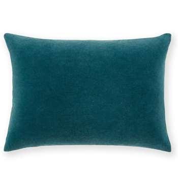 Lorna Velvet Cushion, Agean Blue (H35 x W50cm)