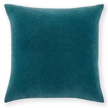Lorna Velvet Cushion, Agean Blue (H45 x W45cm)