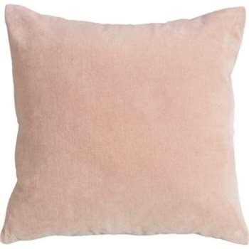 Lorna Velvet Cushion, Blush Pink (45 x 45cm)