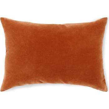 Lorna Velvet Cushion, Burnt Orange (H35 x W50cm)
