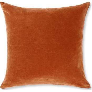 Lorna Velvet Cushion, Burnt Orange (H45 x W45cm)