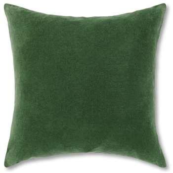 Lorna Velvet Cushion, Leaf Green (H45 x W45cm)