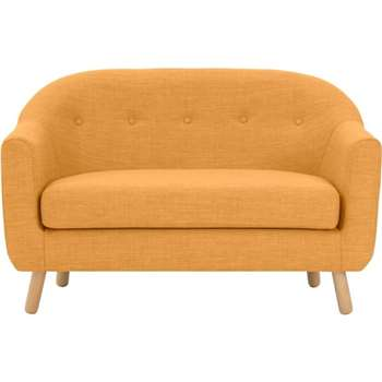 Lottie 2 Seater Sofa, Honey Yellow (75 x 127cm)
