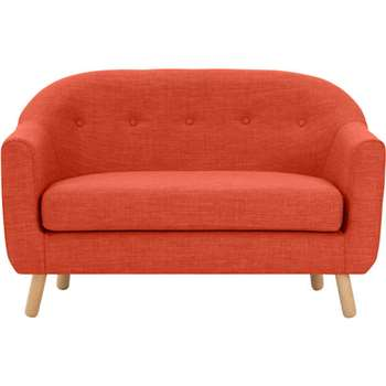 Lottie 2 Seater Sofa, Tuscan Orange (H75 x W127 x D79cm)
