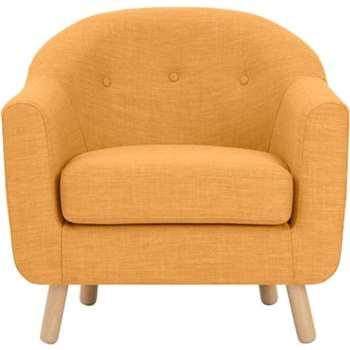 Lottie Armchair, Honey Yellow (75 x 84cm)