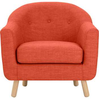 Lottie Armchair, Tuscan Orange (75 x 84cm)