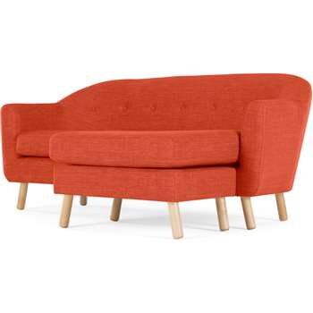 Lottie Compact Chaise End Sofa, Tuscan Orange (H75 x W175 x D126cm)