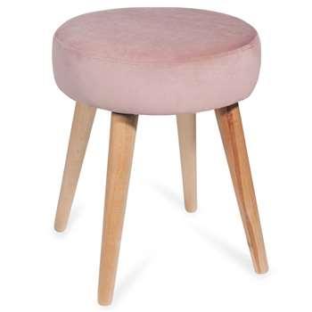 LOU Pink Fabric Stool (44 x 37cm)