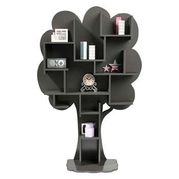 Louane Tree Bookcase in Grey (182 x 122cm)