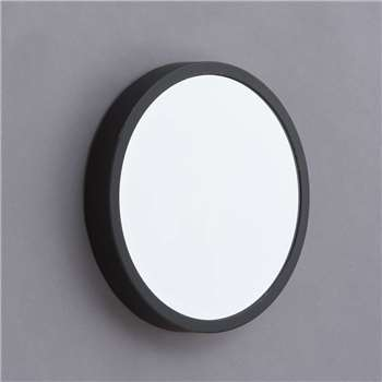 Louis Black Framed Round Mirror (H30 x W30 x D4.5cm)