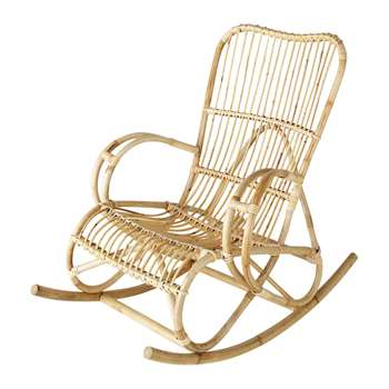 LOUISIANE Rattan rocking chair (97 x 75cm)