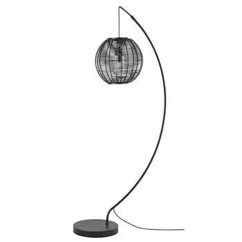 LOUNA Black Metal Outdoor Floor Lamp (H181 x W39 x D92cm)
