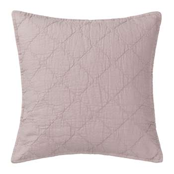 Lousa Cushion Cover, Powder Pink Quilted Design (50 x 50cm)
