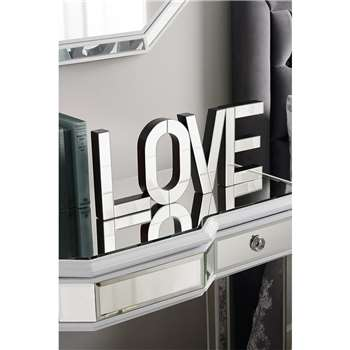 LOVE Large mirrored freestanding or wall decorative letters (20 x 13cm)
