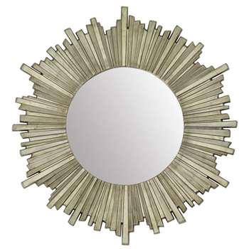 Lovell Round Champagne Mirror (Diameter 99cm)