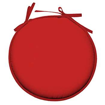 Lovely Casa Nelson CU4689005GAL-R Cotton Seat Pad Red (40 x 40cm)